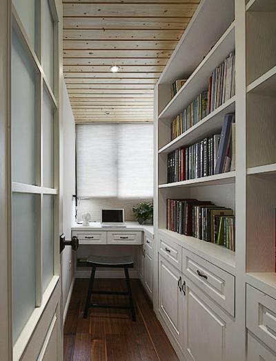 2015开放式便利小书房装修效果图