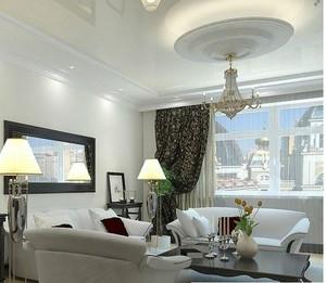 美式小户型客厅吊顶装修效果图