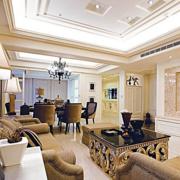欧式简约风格客厅茶几装饰
