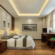 现代简约风格卧室地板装饰