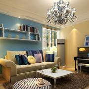 简约风格客厅置物架装饰