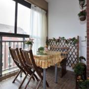 美式简约风格阳台桌椅装饰