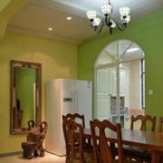 东南亚风格厨房推拉门装饰