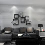 后现代风格客厅深色茶几装饰