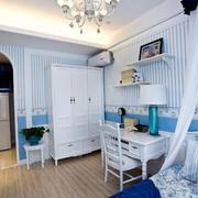美式简约风格卧室壁纸装饰