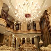 别墅梦幻客厅吊灯
