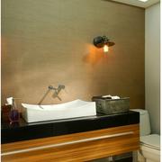 日式简约风格卫生间镜饰装饰