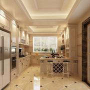 欧式奢华别墅厨房推拉门装饰