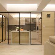 复式楼客厅风格厨房推拉门装饰