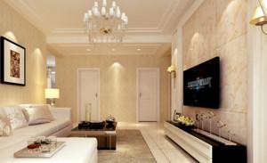 2015年两居室现代简约风格客厅电视背景墙装修效果图