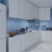 天蓝色的家居厨房