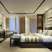 现代高贵的卧室