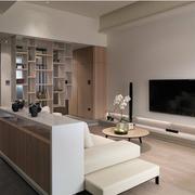 90平米房屋简约风格客厅博物架装饰