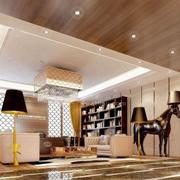 欧式奢华风格办公室书架装饰
