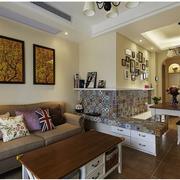 美式简约客厅石膏板吊顶装饰