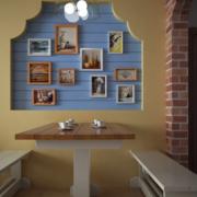 地中海风格餐厅创意背景墙装饰