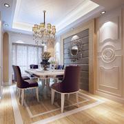 欧式风格餐厅软包背景墙装饰