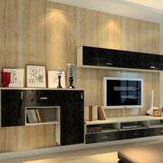 后现代风格深色系背景墙装饰