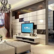 现代化简约风格电视背景墙装饰