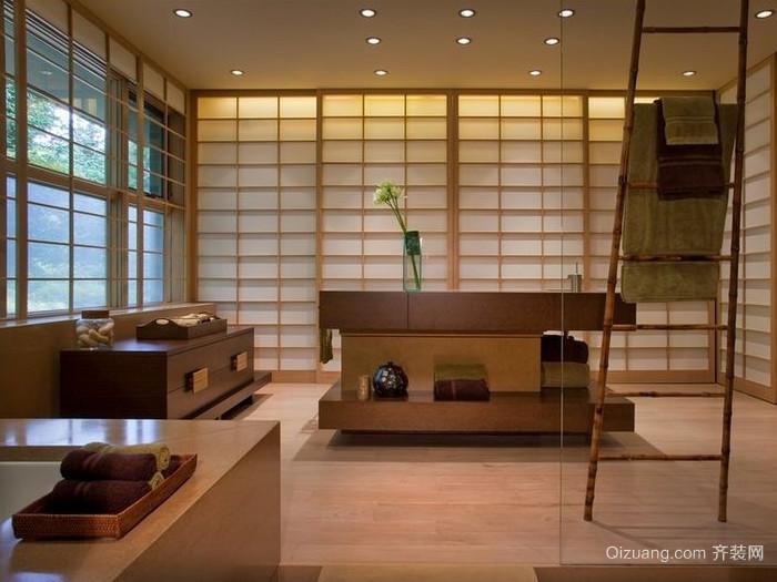 90平米日式简约客厅装修效果图