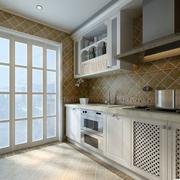 简约风格一字型厨房装饰
