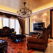 欧式奢华风格硅藻泥电视背景墙装饰