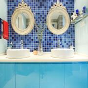 地中海风格卫生间镜饰装饰