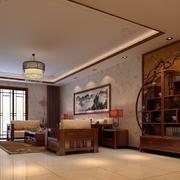 有文化气息的客厅博古架
