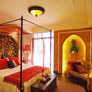 东南亚混搭风格卧室床饰装饰