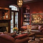 欧式古典客厅置物柜装饰
