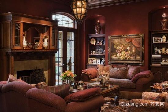 90平米欧式古典客厅装修效果图