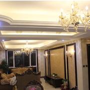 欧式奢华风格石膏板吊顶装饰