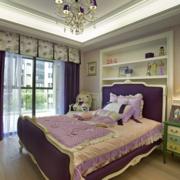 浪漫紫色的儿童房