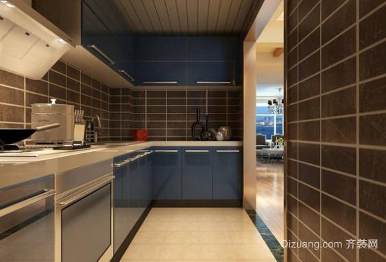 简约清爽的现代厨房设计装修图片