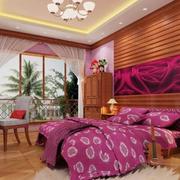 紫色浪漫别墅卧室