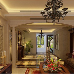 客厅复古造型吊灯