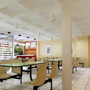 北欧风格清新饭店石膏板吊顶