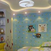 现代简约风格儿童房印花背景墙装饰