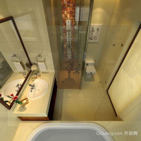 90平米个性时尚小卫生间装修效果图
