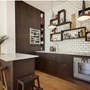 美式简约厨房置物架装饰