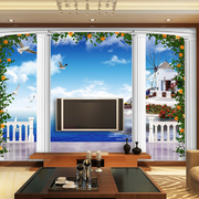 电视背景墙罗马柱装饰