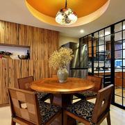 东南亚餐厅圆形吊顶装饰