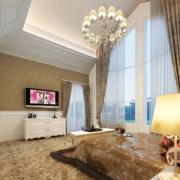 欧式奢华风格卧室飘窗装饰