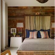 欧式原木风格卧室背景墙装饰