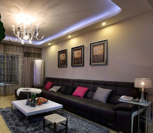 欧式古典小户型客厅装修效果图