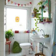 北欧风格卫生间置物架装饰