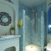 卫生间简约风格浴室隔断装饰