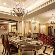 法式风格餐厅灯饰装饰