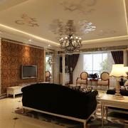 欧式经典风格电视背景墙装饰