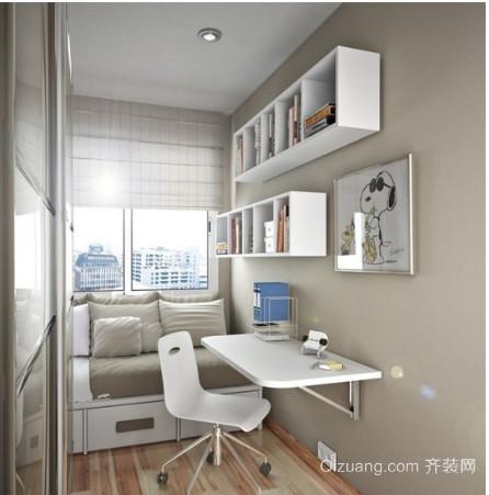 2015现代简约小书房装修设计效果图